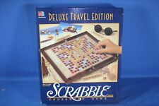 MILTON BRADLEY SCRABBLE DELUXE TRAVEL EDITION 1990 - READY TO PLAY!