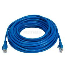 50Ft CAT5 RJ45 Male Connector Ethernet LAN Network Patch Cable Blue Nice