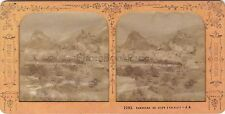 Panorama Sion Suisse Stereo Jean Andrieu Diorama Tissue Vintage