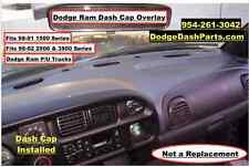 Dodge Ram Plastic Dash Cap Overlay Fits 98-02 Regular Model P/U  Dark Granite
