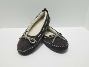 L.L. Bean Soft Suede Hearthside Slippers Brown Size 5 Sold Out in Stores!!!