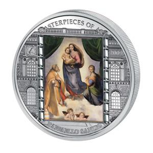 Sixtinische Madonna Masterpieces of Art 20$ Silbermünze Cook Islands 2009
