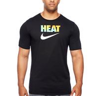 Nike Tee Men's BIG & Tall Black Dri-Fit Swoosh LOGO T-Shirt Heat check 2XLT 3XL