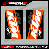 KTM SE1 WP UPPER FORK DECALS WHITE ORANGE MOTOCROSS GRAPHICS MX GRAPHICS