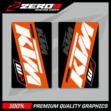 KTM SE1 WP UPPER FORK DECALS WHITE ORANGE MOTOCROSS GRAPHICS MX GRAPHICS