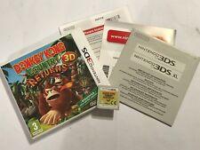 Nintendo 2ds 3ds Spiel Donkey Kong Country Returns 3d + Box Anleitung komplett