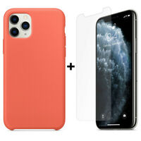 Silicone Coque POUR iPhone 11 Pro Max XS MAX XR 8/7/6 Etui Rigide+ Verre trempé