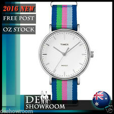 Timex Unisex Weekender Fairfield Rainbow Fabric Band Watch TW2P91700  Free Post