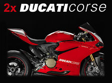2X DUCATI CORSE MOTORCYCLE BIKE STICKERS DECALS SUPERBIKE