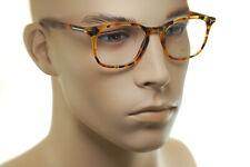 TOM FORD FT5505 055 50mm Men MEDIUM Square Plastic Eyeglasses LIGHT BROWN HAVANA