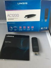 Linksys WUSB6300 Dual Band AC1200 Wireless USB 3.0 Adapter *used*