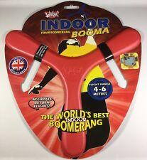 New Wicked Indoor Booma Foam Boomerang 4-6 meter range RED