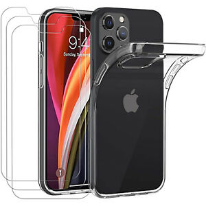 COVER per iPhone 12 Pro Max Mini Silicone Gel TPU + Pellicola Vetro Temperato 9H