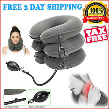 Inflatable Cervical Neck Traction Device Necksmith 3 layer Cradle Pain Relief