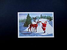 Disney Artist Ralph Hulett Christmas Greeting Card Santa with A Treat For Dasher