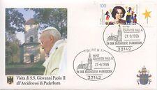 ENVELOPPE VISITE DU PAPE JEAN PAUL II / GERMANY ALLEMAGNE BUREN /  1996