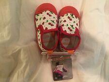 Skidders Toddler Girl's Cherry Hearts Skidproof Canvas Slip On Shoes  8