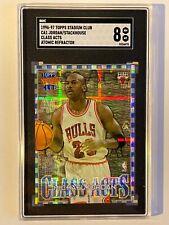 1996 Stadium Club Class Acts #1 Michael Jordan Stackhouse Atomic Refractor SGC 8