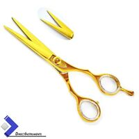 Professional Gold Color Barber Hair Cutting Scissors Hairdressing Shears Razor