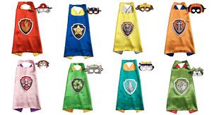 PAW PATROL Costume Cape & Mask Kids Set - Chase Skye Everest Marshall Tracker