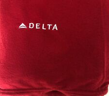 Delta Airlines Lap Blanket - Embroidered DL DAL Airplane Red Plane Throw 62X44
