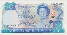 More details for p176 new zealand ten dollars banknote in mint condition dated 1990