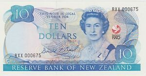 P176 NEW ZEALAND TEN DOLLARS BANKNOTE IN MINT CONDITION DATED 1990