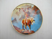 """8 1/4"""" """"Spirit of the South Wind"""" plate - Indian Brave on Horse - Franklin Mint"""