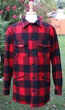 Pendleton Mens Jacket Coat L Tall Red Black Hunting Lumberjack Buffalo Mint