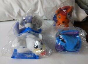 All 4 Nintendo Pokemon Plush KFC 1998 Mint Sealed: Vulpix, Zubat, Seel & Dratini