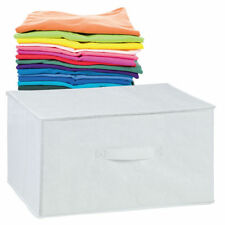 Medium Large White Summer Clothes Tops T Shirt Bed Sheets Towel Storage Case Box