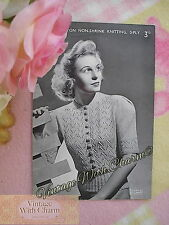 Vintage Knitting Pattern Lady's Lace & Buttons Cardigan. Fit 34 Bust FREE P&P!