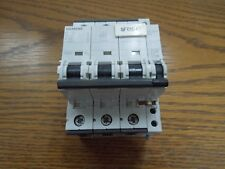 Siemens 5SY7340 40A 3p 400V/480V Din Rail Mount Breaker w/ Auxiliary Switch Used
