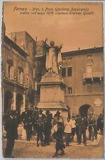 CARTOLINA d'Epoca -  FERRARA: MONUMENTO a GIROLAMO SAVONAROLA - Bella!