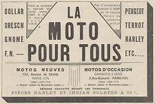 Y9920 LA MOTO POUR TOUS - Dresch - Gnome - Pubblicità d'epoca - 1931 Old advert