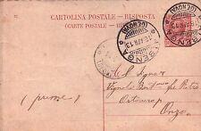 INTERO POSTALE DA 10 CENT. DA CERIALE PER ONZO 1913 C10-671