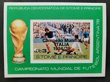 Sao Tome & Principe 1978 / Football World Cup - Argentina / overprinted s/s MNH*