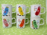 Vintage Jelly Beans Family Mug Set Made in Japan Rare and Unusual