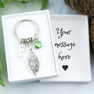Leaf Keyring, Personalised Gift, Nature Keychain, Cute Accessories, Bag Charm