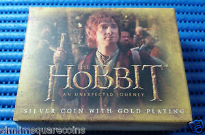 """2012 New Zealand $1 Silver Proof G/P Coin. """"The Hobbit: An Unexpected Journey"""""""