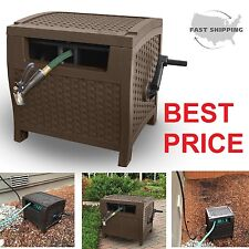 Garden Hose Reel Water 175-Feet Slide Trak Storage Yard Cart Lawn Box Outdoor