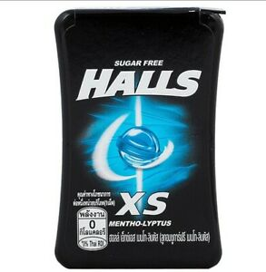 12 x Halls XS Mentholyptus Sugar Free Fresh Breath Relieve Cough Thai Candy