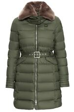 $1060 BLAUER USA Green Hooded Belted Duck DOWN PUFFER Parka Coat M