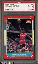 1986-87 Fleer Basketball #57 Michael Jordan RC Rookie Bulls HOF PSA 6 EX-MT