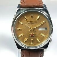 Vintage Citizen Automatic Movement Day Date Dial Mens Analog Wrist Watch CA10