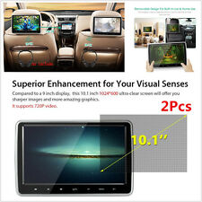 "2Pcs 10.1"" Car Headrest DVD Player Plug-and-Play Rear-Seat Entertainment System"