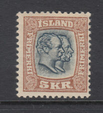 Iceland Sc 85 Two Kings 5 kr Key Value Mint Hinged (2)