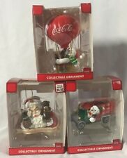 Coca-Cola Collectible Ornaments ~ Set of 3 ~ BRAND NEW IN BOXES