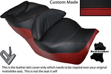 DARK RED & BLACK CUSTOM FITS HONDA GOLDWING GL 1500 88-00 DUAL SEAT COVER
