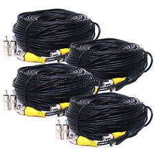 Security Camera Cable 4x 150ft CCTV Video Power DVR Wire Cord BNC RCA Home mb7